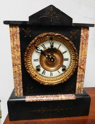 slate mantel clock battery movement