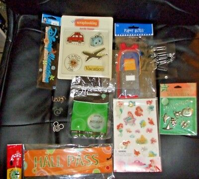 6 scrapbooking PACKS LOT UP TO 75 ITEMS NEW $55 VALUE