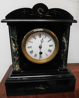 french slate timepiece mantel clock c1900s