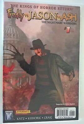 FREDDY VS JASON VS ASH NIGHTMARE WARRIORS 1 B NM- 1st Print Wildstorm Comic