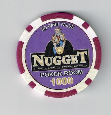 2007 Nugget Casino Pahrump, Nevada Hard To Find $1000.00 Poker Room Chip 2007!