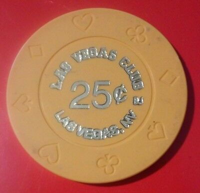 Las Vegas Club Casino Nevada Older Orange .25 Cent Chip Great For Any Collection