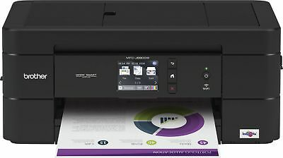 Brother - Work Smart Series MFC-J690DW Wireless All-In-One Printer - Black