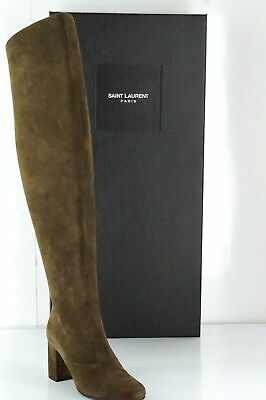 52e8bdcaeafc SZ 37 NEW $1495 SAINT LAURENT Wine Suede BB 70 3