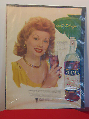 LUCILLE BALL I LOVE LUCY 1984 BLACKGLAMA FUR Vintage Look Replica Metal Sign