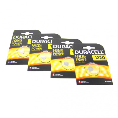 4x Duracell CR1220 3V Lithium Button Battery Coin Cell DL/CR/BR 1220 Exp2027 /UK