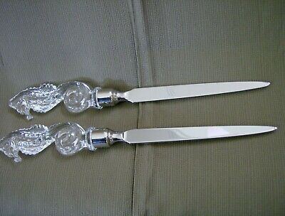 Waterford Society Crystal Seahorse Letter Opener - EXCELLENT