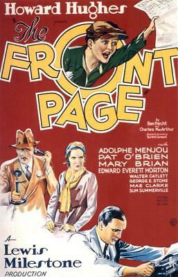 The Front Page 1931 Pat O'Brien, Mary Brian Comedy Film