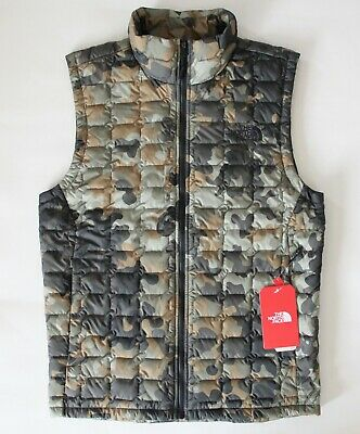 127b2632d2bab Nwt The North Face Men's Thermoball Vest Taupe Green Macrofleck Camouflage