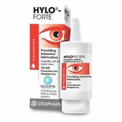 3 bottles x Hylo-Forte Intensive Lubricating Eye Drops 10ml *AMAZING OFFER!!*
