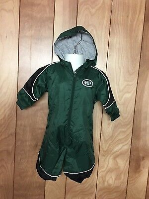 Toddler Boy's New York Jets Hooded Outdoor Bodysuit-Size: 3/6 Months