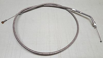 Drag Specialties Stainless Braided Idle Cable Harley-Davidson FXSTS DS-224019