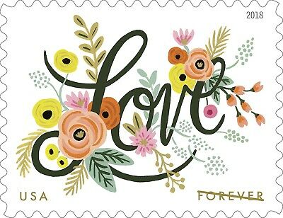 2018 50c Love Flourishes Scott 5255 Mint F/VF NH