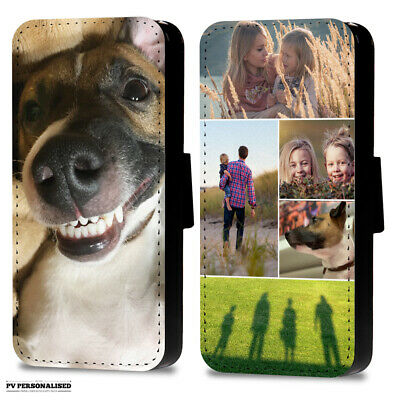 Personalised Photo Or Collage Flip Wallet Phone Case Cover For Samsung Apple