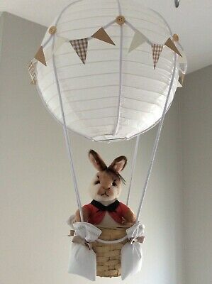 Peter rabbit  theme flopsy hot air balloon nursery light shade, made to order…