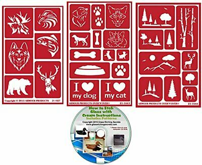 Wild & Domesticated Animal Stencils (3) Pack , Over N Over Reusable + Free CD