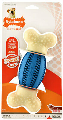 Double Action Dental Chews for Dogs Football Reduces tartar