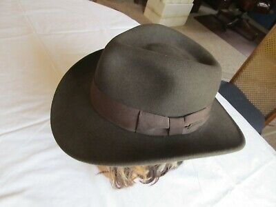 6be63858 STETSON EXPEDITION Cowboy Indiana Jones Mens Hat Size M Medium Brown Wool.
