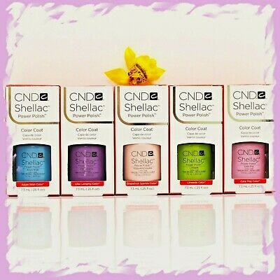 CND Shellac UV Nail Polish 14 Day Top & Base Coat Choose from any colour 7.3ml