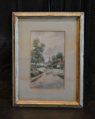 Chas Masters - Antique Watercolor Painting Early 1900s - English Landscape