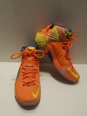 922a123327b Nike Lebron XII six meridians mens 9 684593-870 basketball shoes orange  yellow