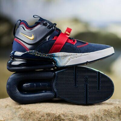 8943ad7137 Nike Air Force 270 Kids Shoes Sz 5 M Obsidian/Metallic Gold/Gym Red