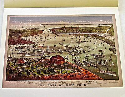 New York City Historic Map Reproduction of The Port of New York 1892