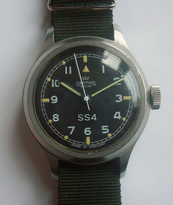 50s Smith de Luxe British Royal Army Miltary Style Watch Civilian Model