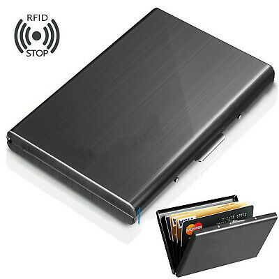 Men Credit Card ID Holder Money Wallet Pocket Box Stainless Steel Metal Case