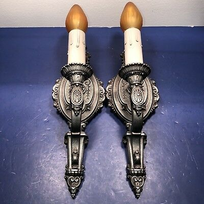 Antique Pair Riddle Co. Sconces Fireplace Hallway Kitchen Newly Wired 64B