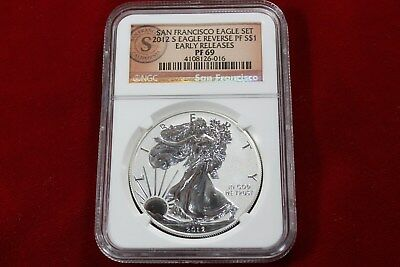 NGC PF69 RP UCAM 2012-S SAN FRANCISCO EAGLES-EARLY RELEASE SILVER PROOF SET