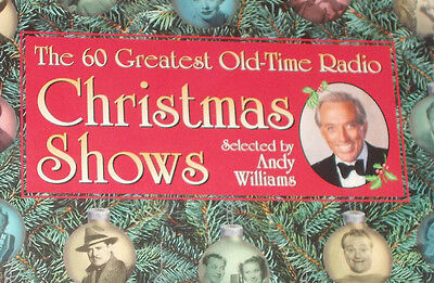 60 Great Old-Time Radio Christmas Shows 2000 CD Radio Spirits OTR Rare Cassettes