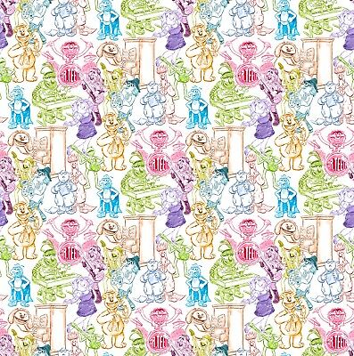 Disney Muppets Rainbow Sketches Fabric By The Yard 1050 Picclick