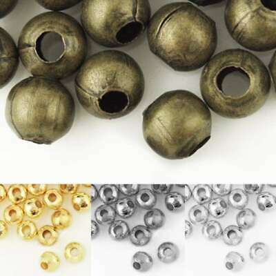 20g(50-120pcs) Round Crimp End Beads 4/6mm Jewelry Making Findings Wholesale