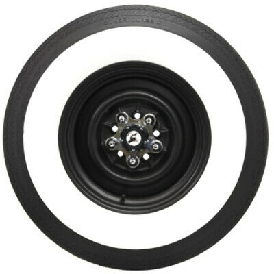 "Coker G78-14 2 1/4"" Wide Whitewall Bias Tire"