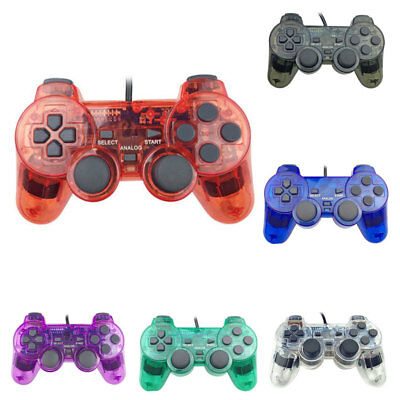 JT_ Wired Dual Shock Game Controller Joypad for Sony Playstation 2 PS2 Proper