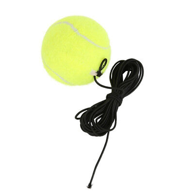 JT_ Elastic Rubber Band Tennis Ball Single Practice Training Belt Line Cord To