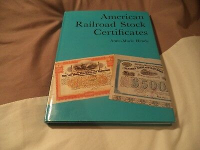 American  Railroad Stock Certificates  Very Scarce Vintage Book.