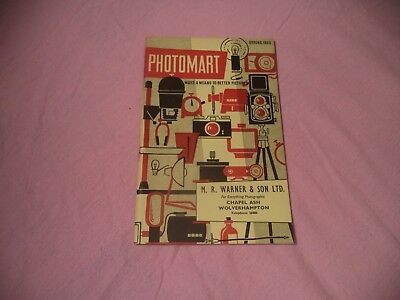 Very Scarce  Photomart Photographic  Catalogue 1959
