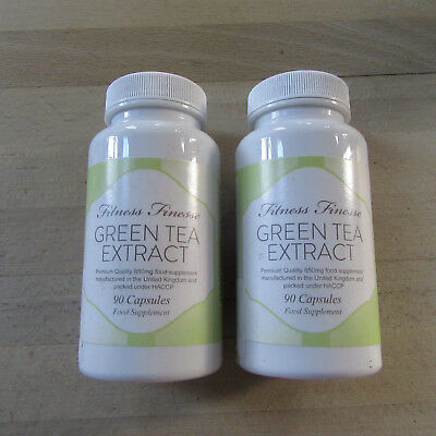 Fitness Finesse -2 X Green Tea Extract 850mg MAX Weight Loss - 2 X 90 Capsules .