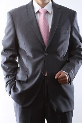 Mens Gray Two Button Slim Fit Extra Fine Dress Suit? Sml-60512H-60506-Gre