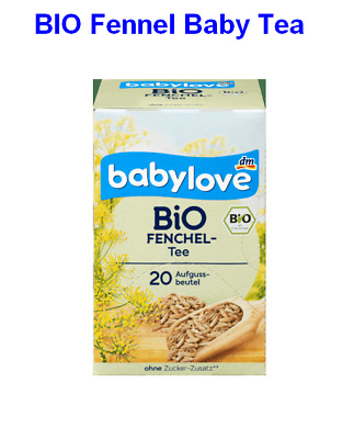 Organic Fennel Baby Tea 20bags,STOP Colic, Free-Sugar and Aroma,Made in Germany
