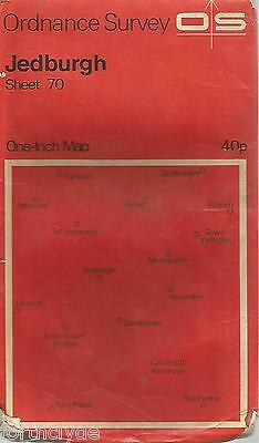 JEDBURGH  - Sheet 70- ORDANCE SURVEY One Inch Fold Out Vintage Map B25