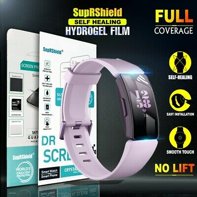 [3 Pack] Fitbit Inspire HR SupRShield Hydrogel Full Coverage Screen Protector