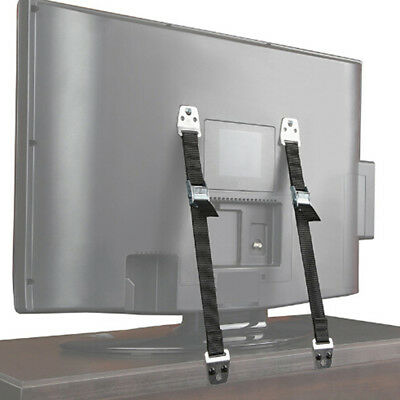 2pcs Anti-tip Safety Straps for Baby Proofing Dresser Bookcase TV Cabinets OS