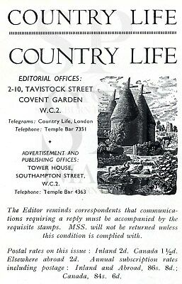 1946 COUNTRY LIFE Magazine ANNE DOUGLAS-SCOTT-MONTAGU Rampynded Burwash (3652)