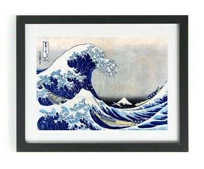 The Great Wave Off Kanagawa Hokusai Japanese Woodblock Art Print Picture A4