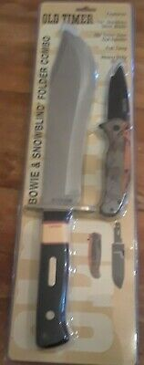 """OLD TIMER/SCHRADE BOWIE & SNOWBLIND PACK 10"""" Stainless Blade w/Nylon Sheath NEW"""