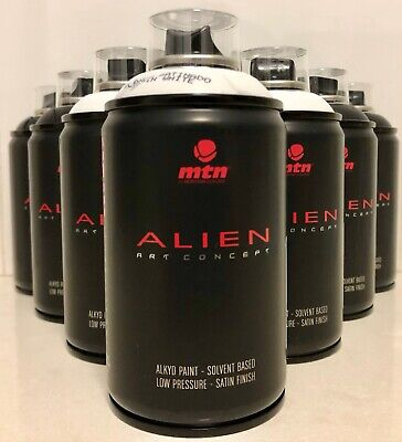 MTN ALIEN Montana Colors BLACK & WHITE Spray Paint SPECIAL **10 CANS FREE P&H**