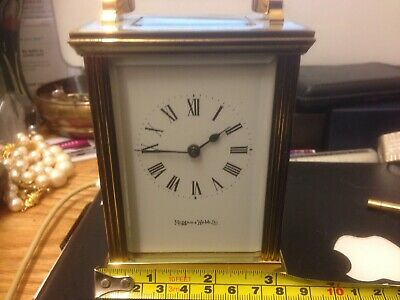 Superb Mappin And Webb Brass And Bevel Glass Carriage Clock Vgwo And Key